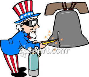300x261 Uncle Sam Welding The Liberty Bell