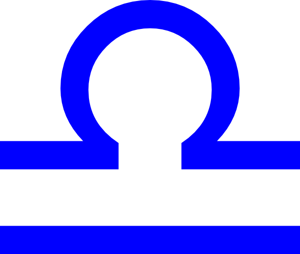 600x509 Libra Sign Blue Clip Art