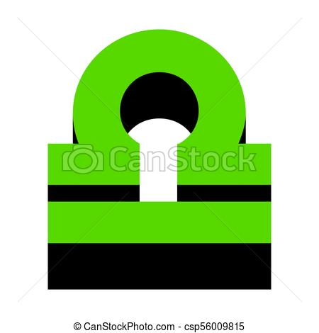 450x470 Libra Sign Illustration. Vector. Green 3d Icon With Black
