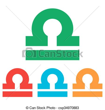 450x470 Libra Sign. Colorfull Set Isolated On White Background Vector