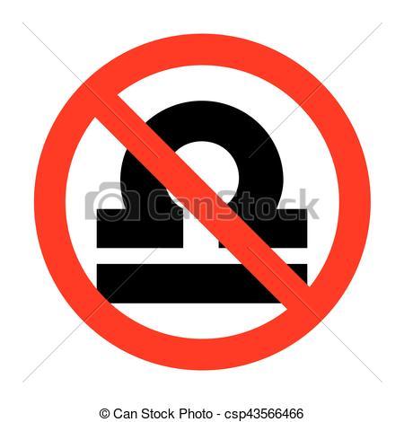 450x470 No Libra Sign Illustration. Clip Art Vector