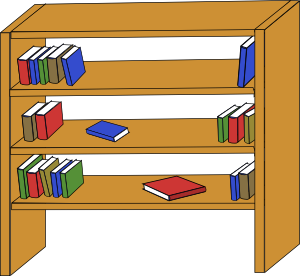 300x276 Furniture Library Shelves Books Clip Art