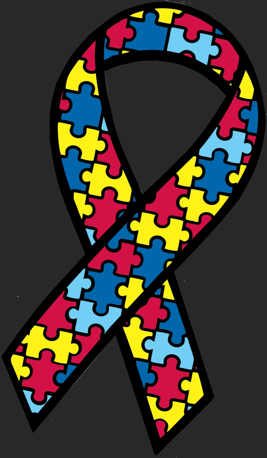 854x1463 Spectacular Autism Ribbon Clip Art Awareness Black And White