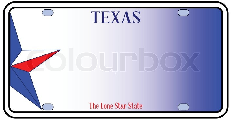 800x414 Texas License Plate In Red White And Blue With Lone Star State