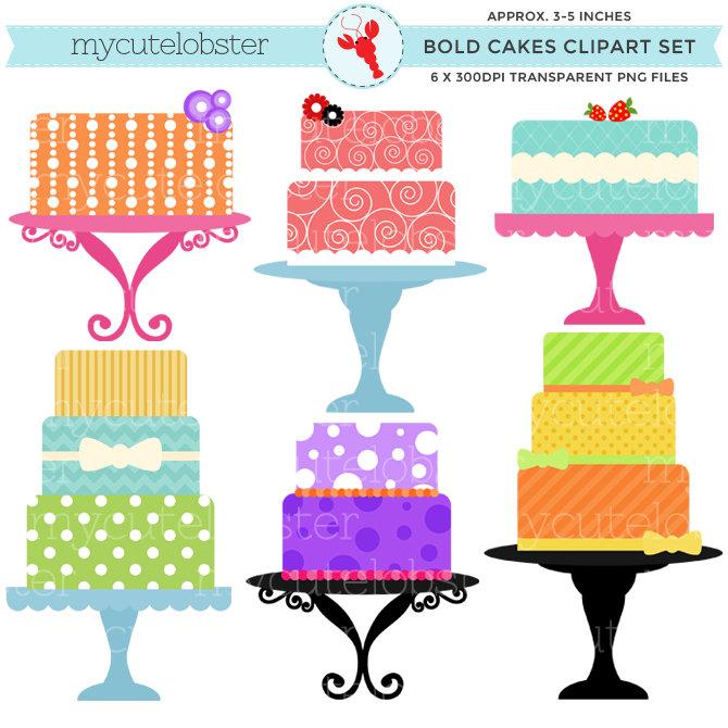 670x670 Bold Cakes Clipart Set Clip Art Set Of Bright Bold Cakes