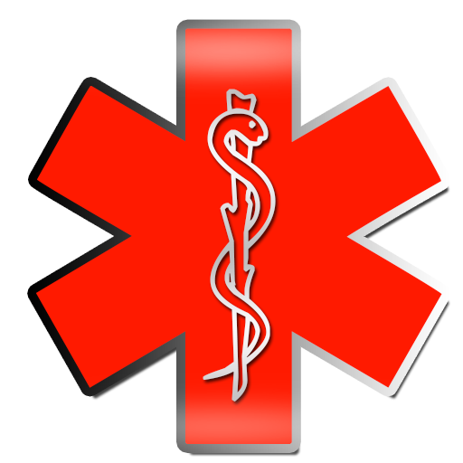 512x512 Red Star Of Life Clipart Image