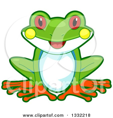 450x470 Clipart Of A Life Cycle Of A Frog With Eggs, Tadpoles And An Adult