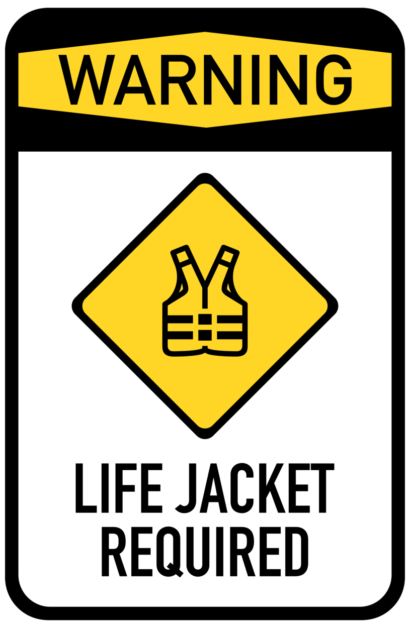 815x1250 Life Jacket Required Sign Png Clip Art