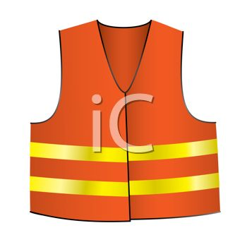 350x350 Safety Vest Like Road Crew's Wear