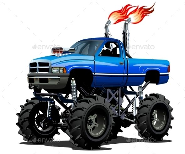 Lifted Truck Clipart