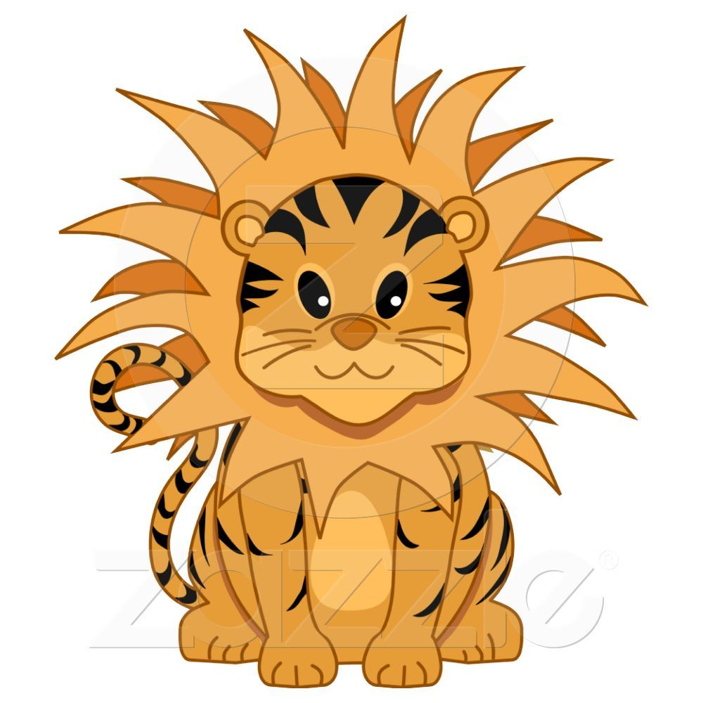 1000x1000 Cute Kawaii Liger Cartoon Cat Cut Outs