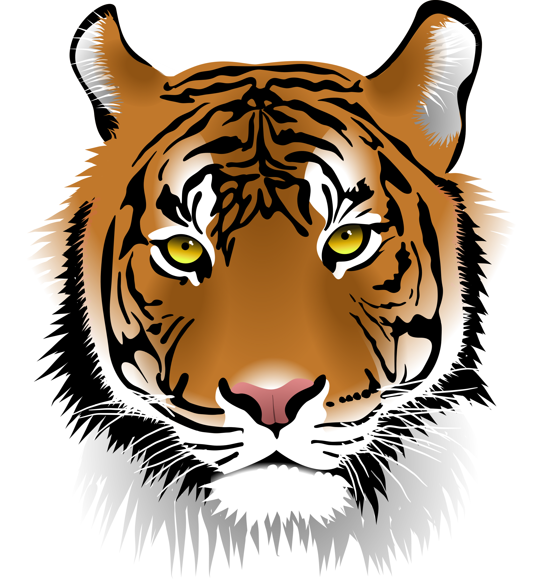 2262x2400 Tiger Face Clipart Group