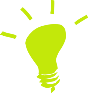 285x300 Green Lightbulb Clip Art