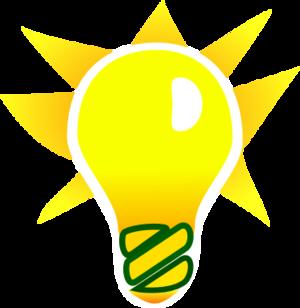 300x308 Light Bulb And A Star Vector Clip Art