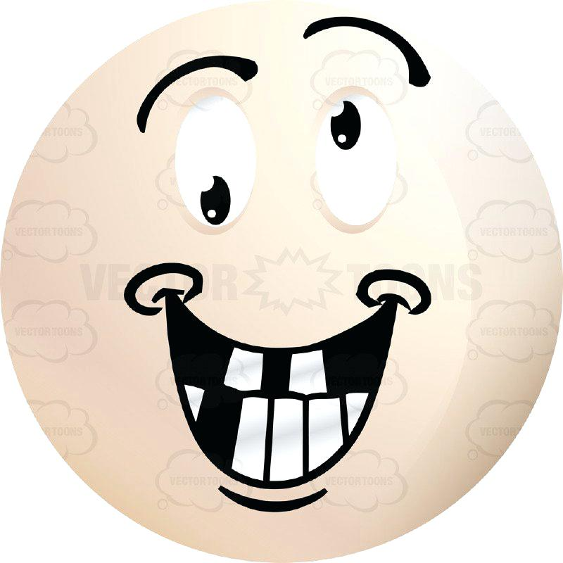 800x800 Eye Roll Clip Art Smiling Crazy Faced Light Colored Smiley Face