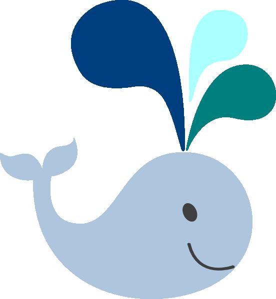 552x599 Blue Whale Clipart Ba Whale Clip Art Little Light Blue Whale Clip