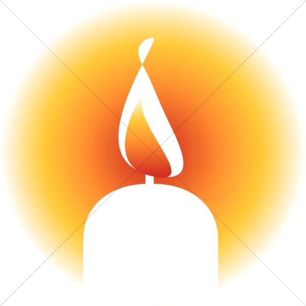 600x600 Brightly Lit Candle Clipart Religious Christmas Clipart