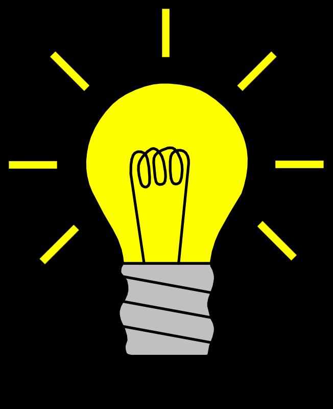 652x800 Free Clipart Light Bulb On Palomaironique
