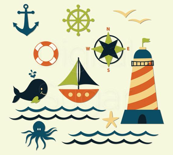 570x513 Lighthouse Clipart Anchor