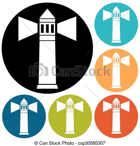 450x470 Lighthouse Icon Vector Clipart