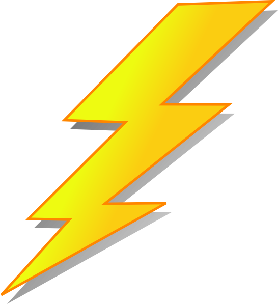 546x597 Lightning Bolts Clipart Clipartdeck Clip Arts For Free