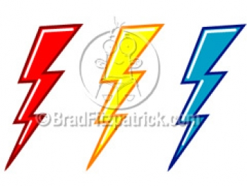 350x263 Cartoon Lightning Bolts Clipart Picture Royalty Cloud