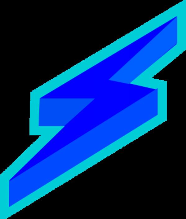 600x707 Blue Lightning Bolt Clipart Explore Pictures
