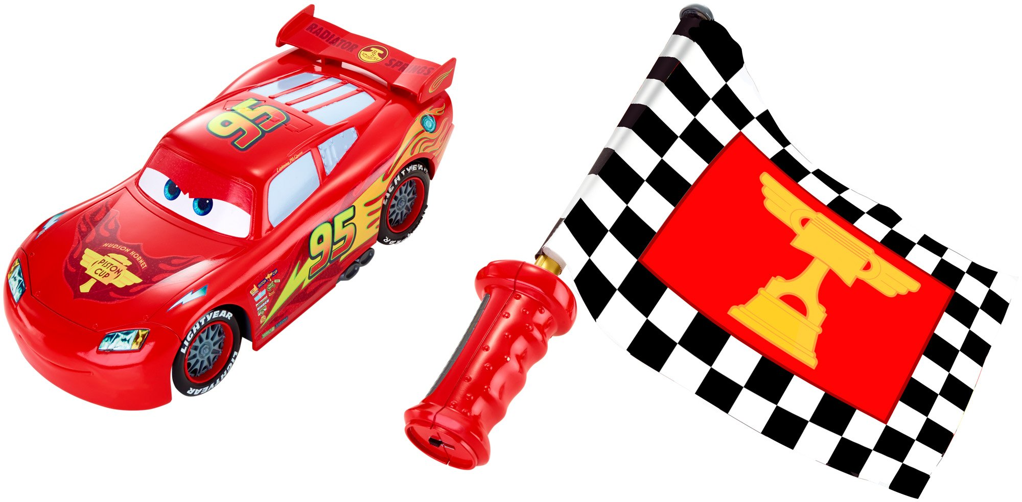 2000x983 Disneypixar Cars Flag Finish Lightning Mcqueen Toy Car Standard