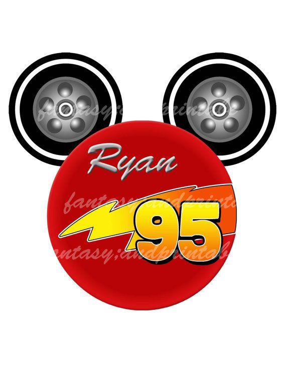 570x738 Lightning Mcqueen Disney Cars Logo Mickey Diy Printable Image