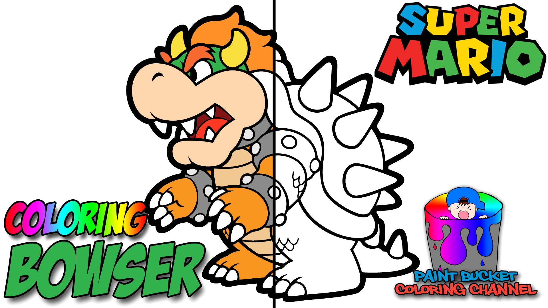 1920x1080 Paper Mario Coloring Pages
