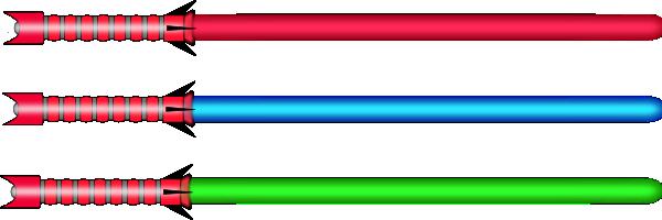 600x200 Lightsaber Clip Art Free Vector 4vector