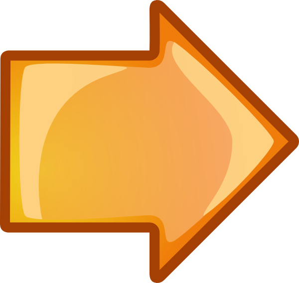 600x568 Arrow Orange Right Clip Art Free Vector 4vector