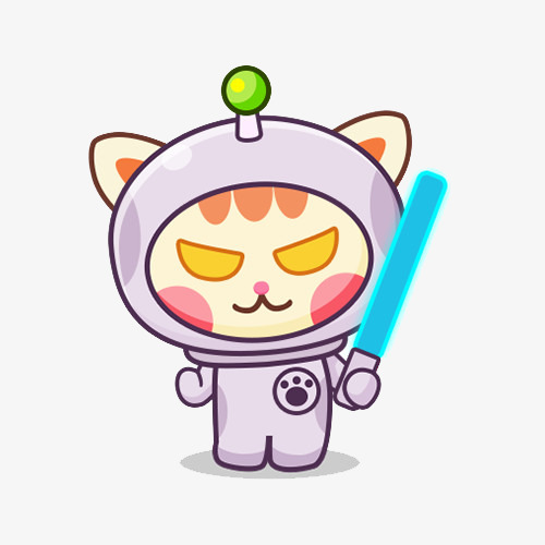 500x500 Cat Holding A Laser Sword, Lightsaber, Kitty, Spacesuit Png Image