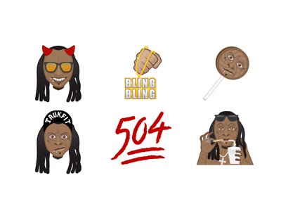 400x300 Lil' Wayne Sticker Pack By Brock Honma