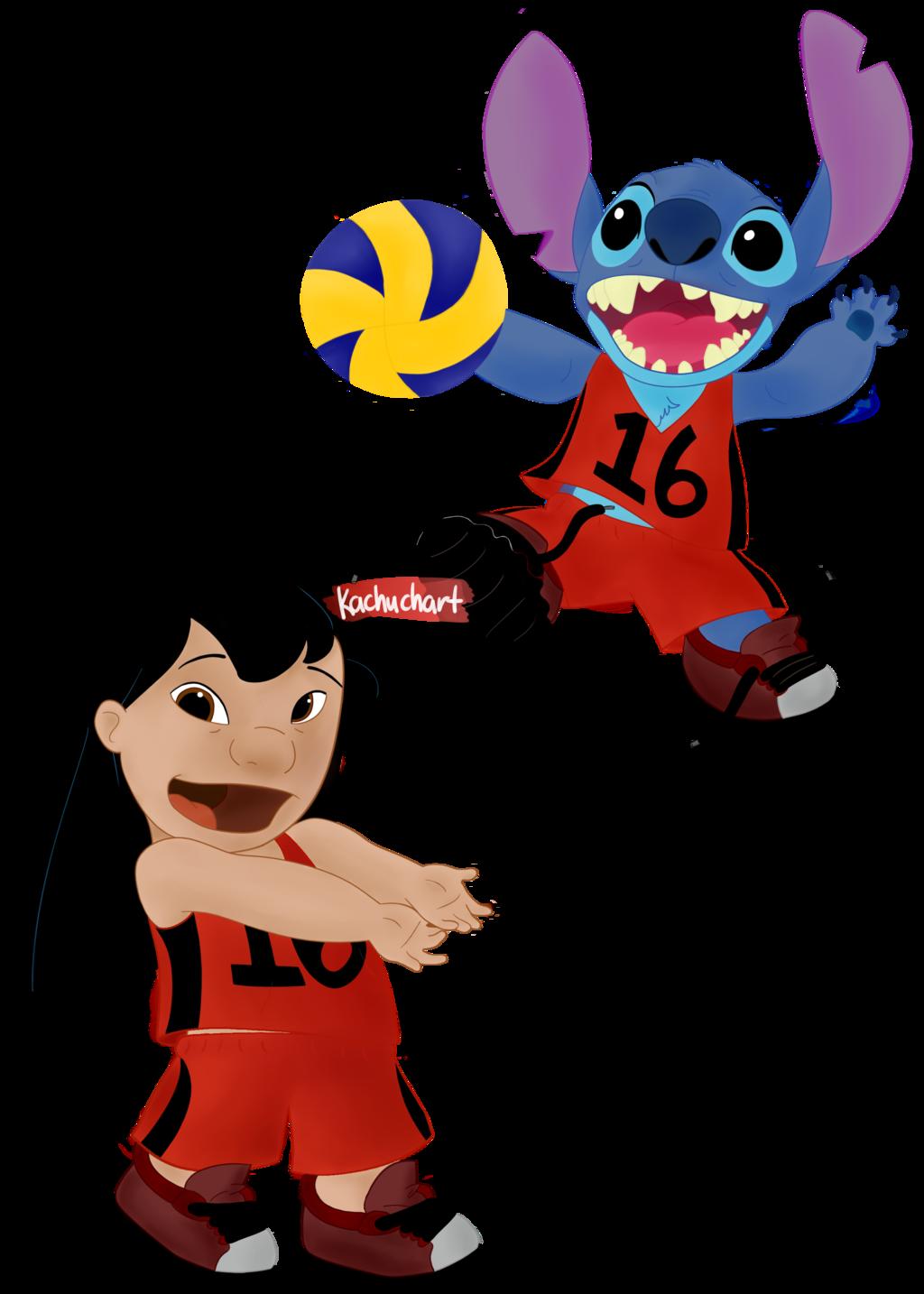 1024x1434 Lilo And Stitch Volleyball By Kachuchart