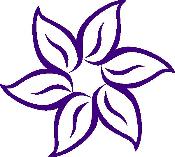 600x536 Free Lily Flower Clipart Cartoon Flowers Clip Art Purple Flower