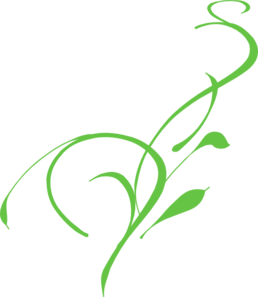 258x297 Green Lily Clip Art