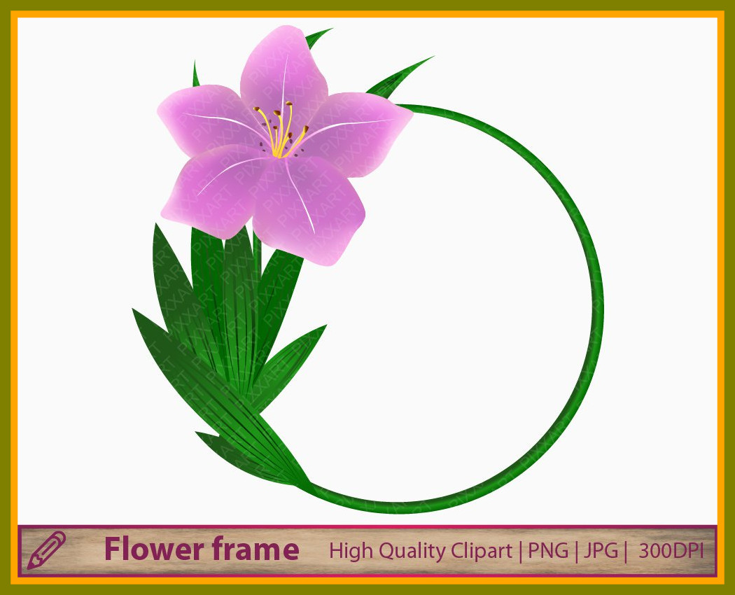 1050x850 Best Pink Flower Clipart Purple Lily Background Clip Art Digital