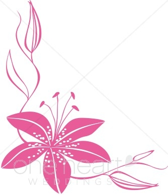 334x388 Pink Flower Border Clip Art Pink Lily Clipart Flower Clipart