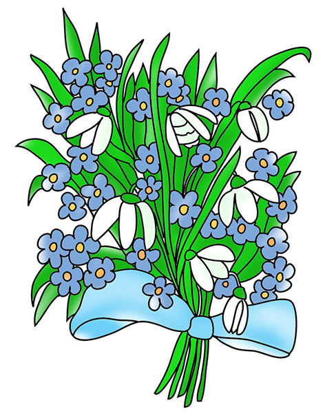 472x610 Free Flower Clipart