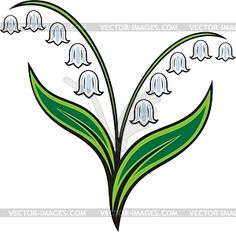236x232 Lily Of The Valley Flower Stencil Valley Flowers, Stenciling