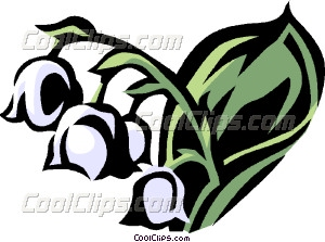 300x223 Lily Of The Valley Vector Clip Art