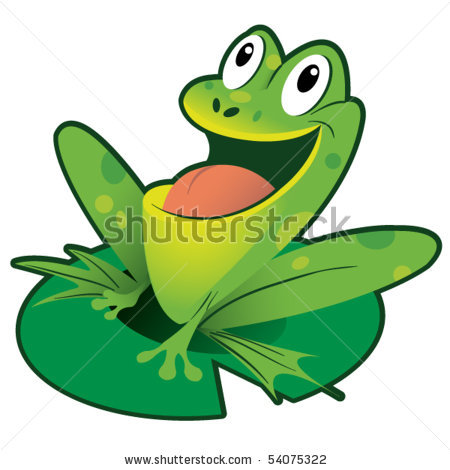 450x470 Frog On Lily Pad Clipart