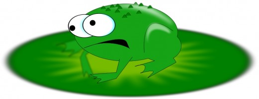 521x200 Best Cute Frog On Lily Pad Clipart