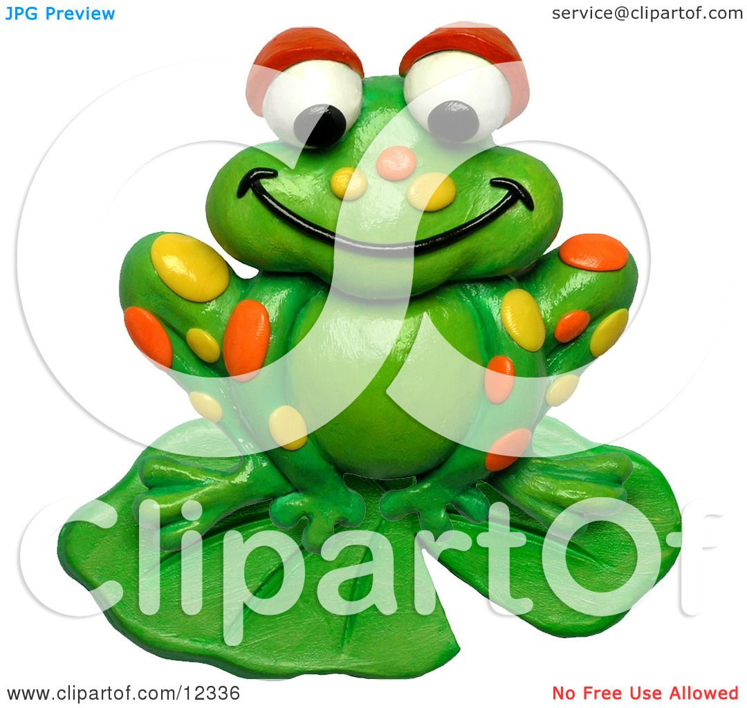 1080x1024 Clay Sculpture Clipart Spotted Frog On A Lily Pad