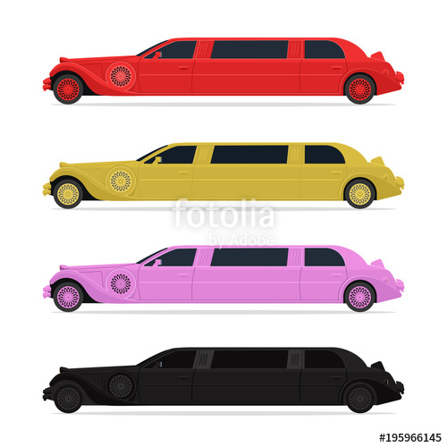 500x500 Limousine In Four Different Colors (Red, Gold, Pink, Black