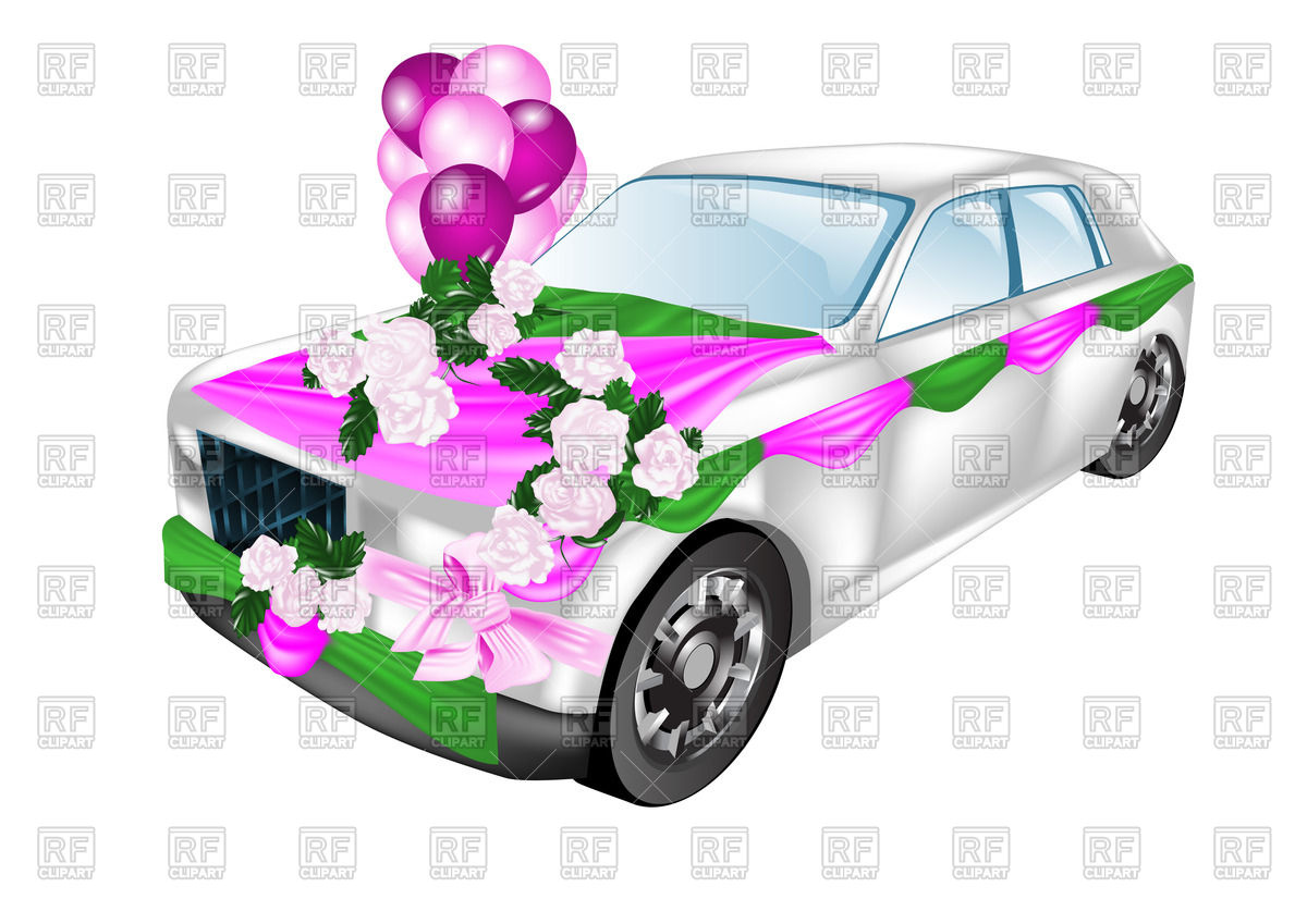 1200x849 Wedding Car Decorated With Flowers And Balloons Royalty Free