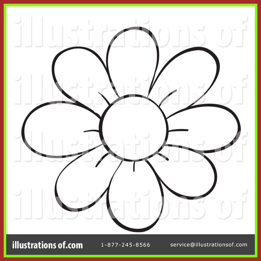 1074x1074 Marvelous Flower Line Drawing Clip Art At Getdrawings For Picture