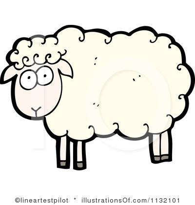 400x420 Clip Art Happy Sheep Clipart