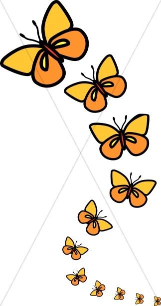 323x612 Line Of Butterflies Clipart Butterfly Clipart